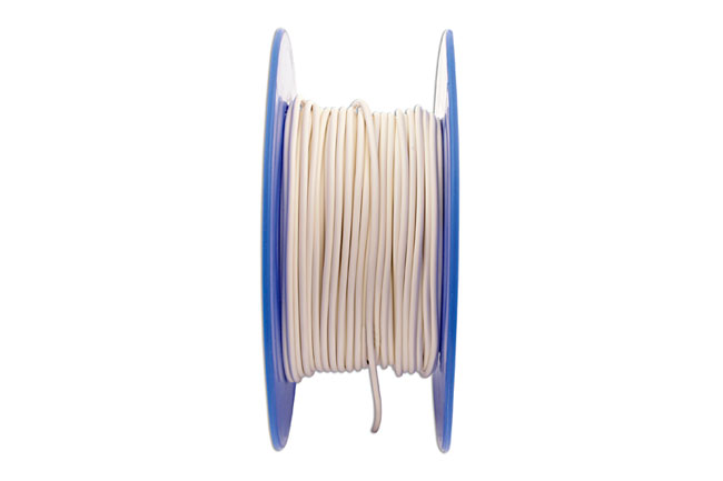 30036 White Thin Wall Single Core Cable 28/0.30 50m