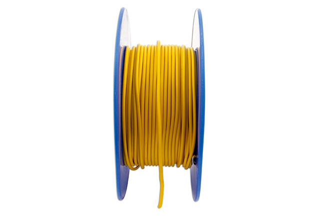 30037 Yellow Thin Wall Single Core Cable 28/0.30 50m