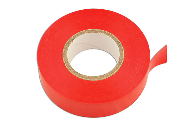 30380 Red PVC Insulation Tape 19mm x 20m - Pack 10