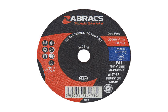 30459 Abracs 75mm Cut-off Discs - Pack 5