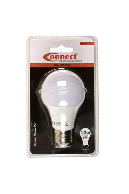 30527 10W LED Bulb 6500K E27 ES Fitting Cold White - Pack 1