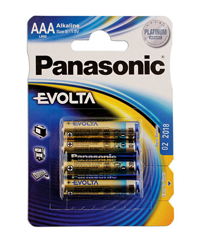 30645 Panasonic Evolta AAA Battery 12 x 4 Blister Packs