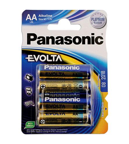 30646 Pansonic Evolta AA Battery 12 x 4 Blister Packs