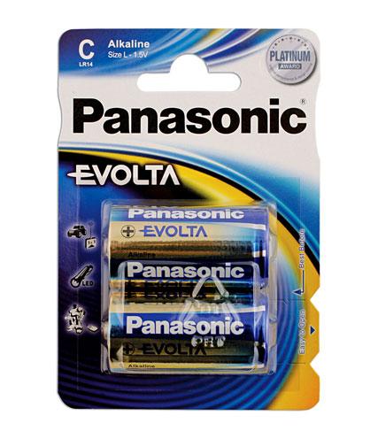 30647 Panasonic Evolta C Cell Battery 12 x 2 Blister Packs