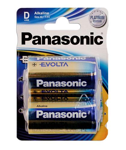 30648 Panasonic Evolta D Cell Battery 12 x 2 Cards
