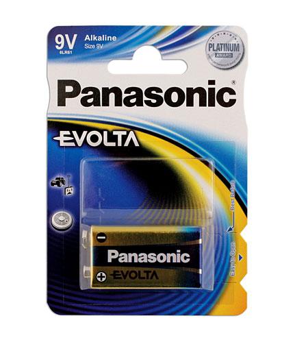 30649 Pansonic Evolta PP3 9v Battery 12 x 1 Blister Packs