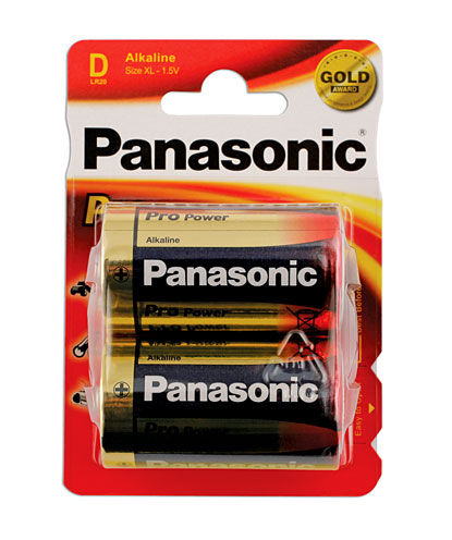 30655 Panasonic Pro Power D Cell Battery 12 x 2 Cards