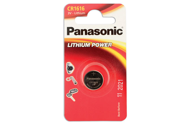 30659 Panasonic Coin Cell Battery CR1616 3v 12 x 1 Cards