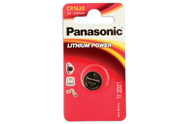 30660 Panasonic Coin Cell Battery CR1620 3v 12 x 1 Cards