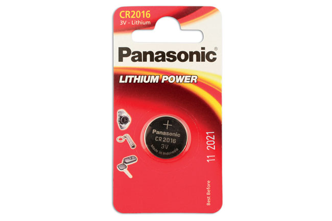30661 Panasonic Coin Cell Battery CR2016 3v 12 x 1 Cards