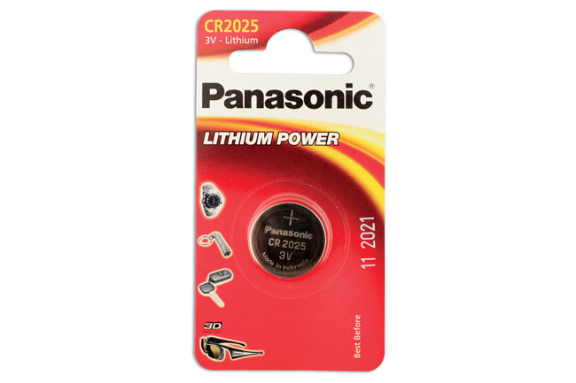 30662 Panasonic Coin Cell Battery CR2025 3v 12 x 1 Cards