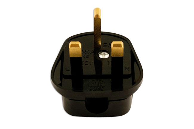 30677 High Impact Black Plug Tops 13-amp - Pack 10