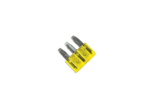30709_Angled micro 3 blade fuse 20 amp pk 25 connect workshop consumables part