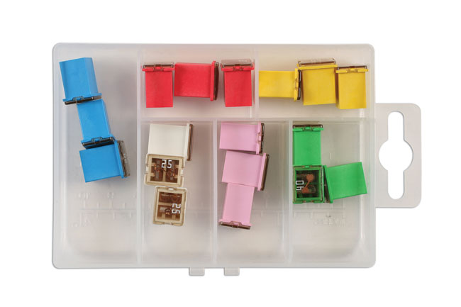 30721 Assorted J Type Low Profile Fuses  - 18 Pieces