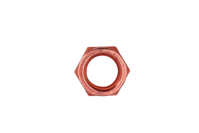 30738 Copper Flashed Nut Slotted Lock M10 x 1.5 x 14mm Hex 5pc