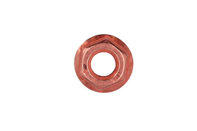 30739 Copper Flashed Nut Flanged M8 x 1.25 x 13mm Hex 5pc