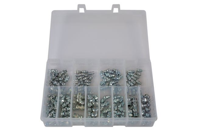31842 Assorted Metric & Imperial Grease Nipples - 130pc