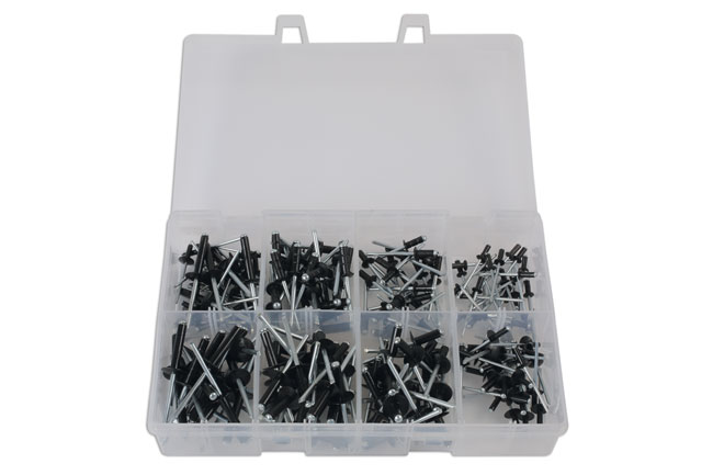 31844 Assorted Popular Black Rivets 200pc