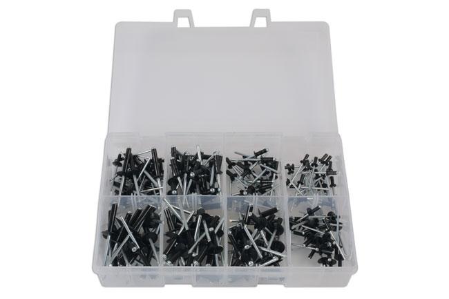 31844 Assorted Popular Black Rivets - 200 Pieces