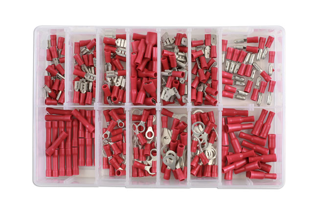 31850 Assorted Red Terminals Box - 260 Pieces