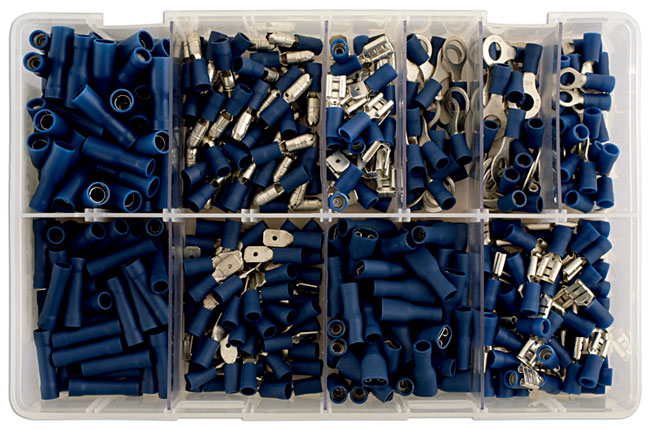 31851 Assorted Blue Terminals Box - 280 Pieces