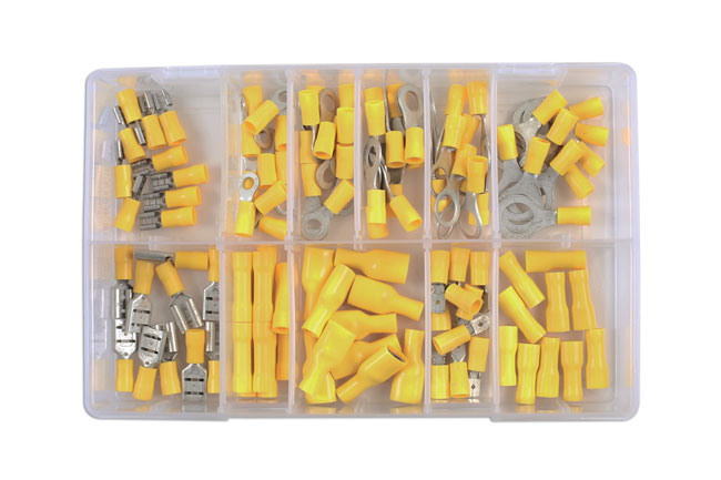 31852 Assorted Yellow Terminals Box - 110 Pieces