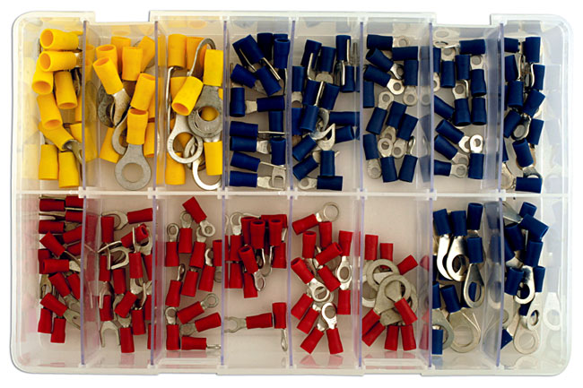 31854 Assorted Rings & Fork Terminals Box - 200pc
