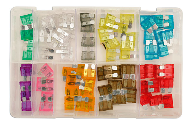 31856 Assorted Standard Blade Fuses Box 80pc