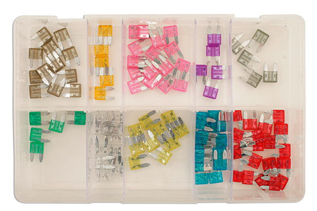 31857 Assorted Mini Blade Fuses Box 100pc