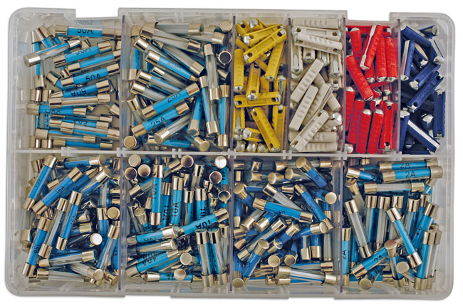 31859 Assorted Auto Fuses-Glass & Ceramic Box 480pc