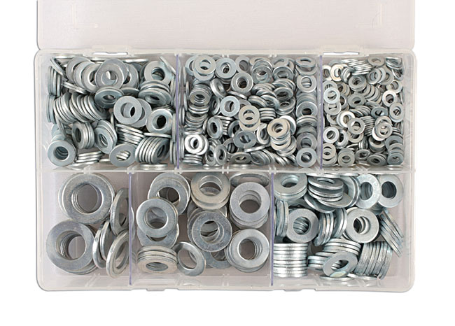 31862 Assorted Form A Flat Washers Box - 800 Pieces