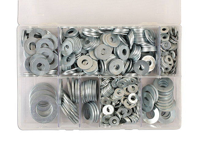 31863 Assorted Form C Flat Washers Box - 800 Pieces