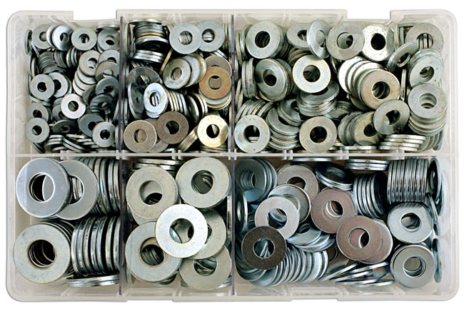 31865 Assorted Table 4 Flat Washers Box - 800 Pieces