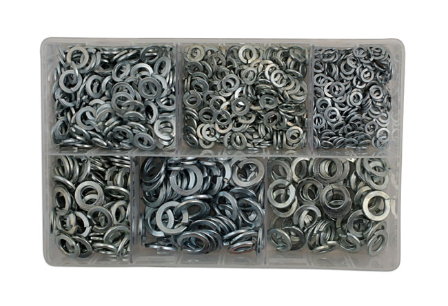 31866 Assorted MM Spring Washers Box - 800 Pieces