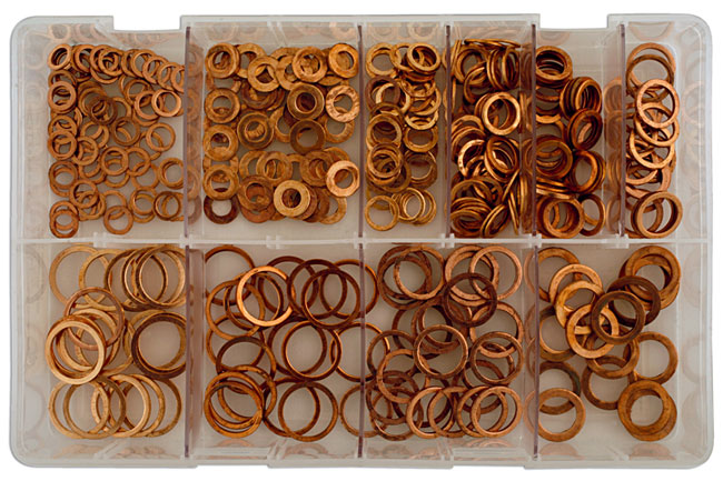 31871 Assorted Metric Diesel Injection Washers Box - 360 Pieces
