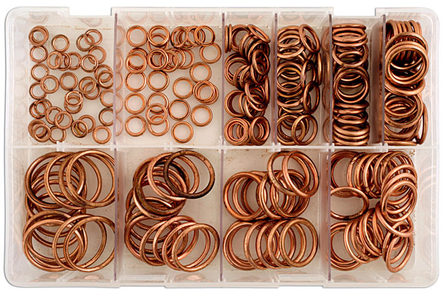 31885 Assorted Compression Washers Box - 250 Pieces