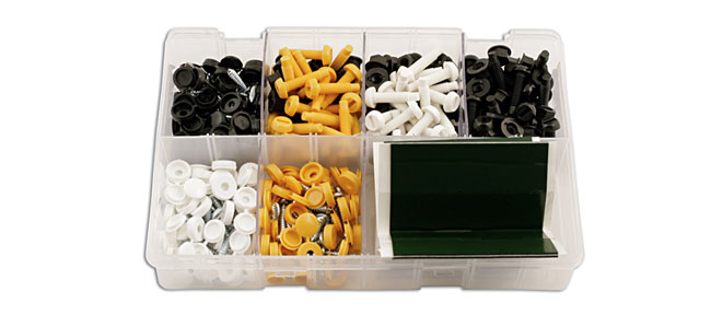 31886 Assorted Number Plate Fixings & Pads Box 320pc