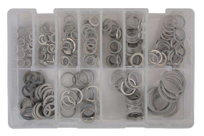 31896 Assorted Aluminium Washers Box 260pc