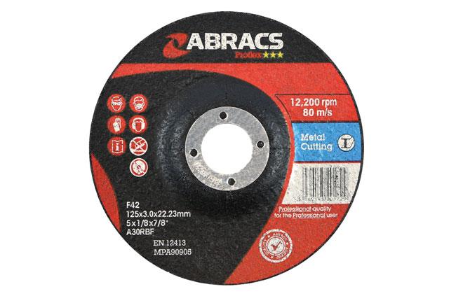 32051 Abracs 125mm x 3.0mm DPC Metal Cutting Discs - Pack 10