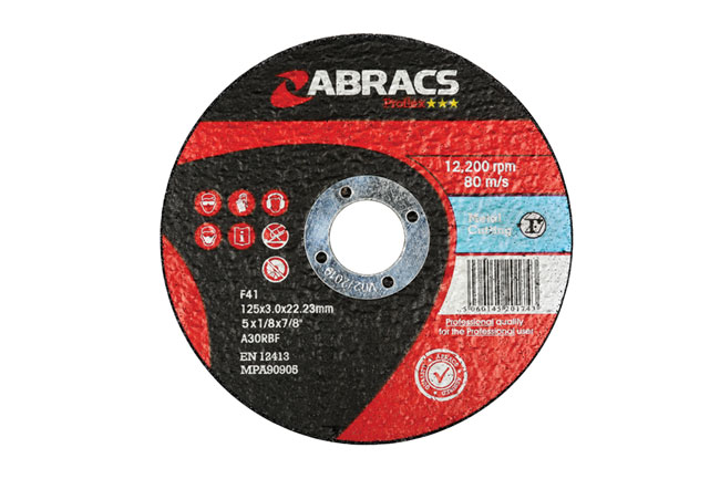 32052 Abracs 125mm x 3.0mm Flat Cutting Disc - Pack 10