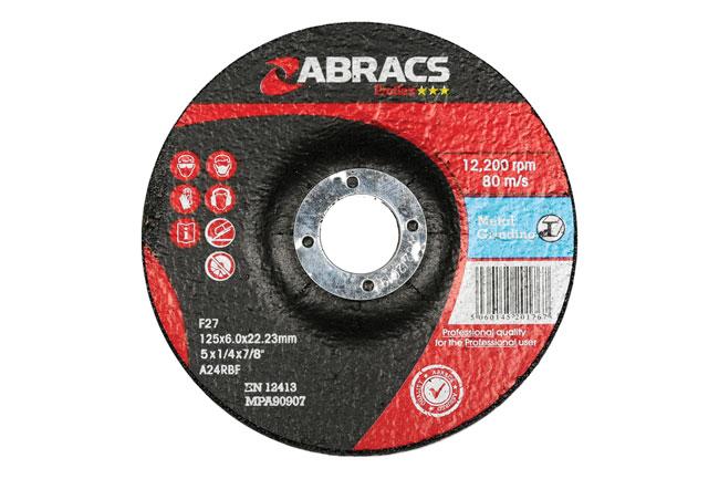 32053 Abracs Metal Grinding Discs 125mm x 6.0mm - Pack 10