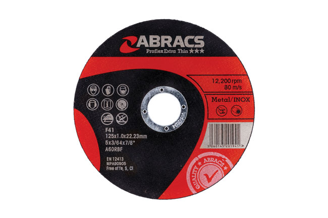 32054 Abracs 125mm x 1.0mm Thin Cutting Discs - Pack 10
