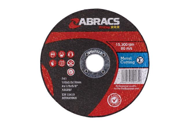 32055 Abracs 100mm x 3.0mm Flat Cutting Discs - Pack 10