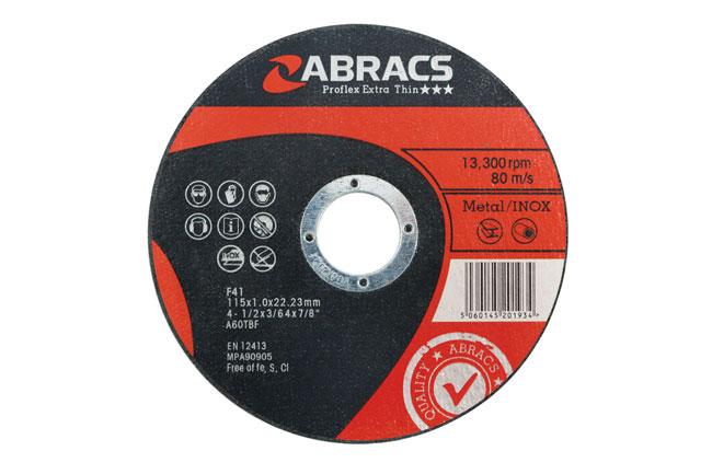 32067 Abracs 115mm x 1.0mm Extra Thin Discs - Pack 5