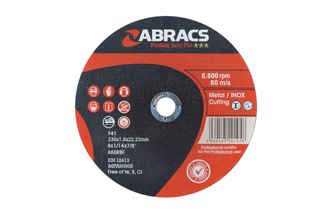 32071 Abracs 230mm x 1.8mm Extra Thin Discs - Pack 25