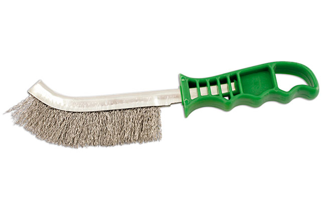 32126 Abracs Plastic Handle Stainless Steel Brush - Pack 4