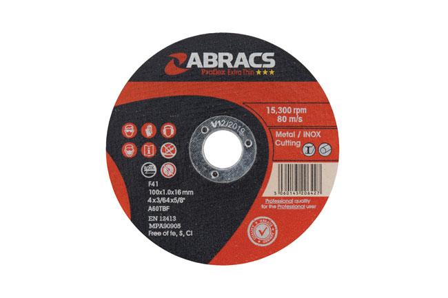 32144 Abracs 100mm x 1.0mm Thin Cutting Discs - Pack 10