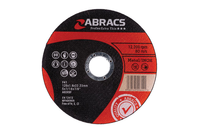 32197 Abracs 125mm x 1.6mm Thin Cutting Discs - Pack 10