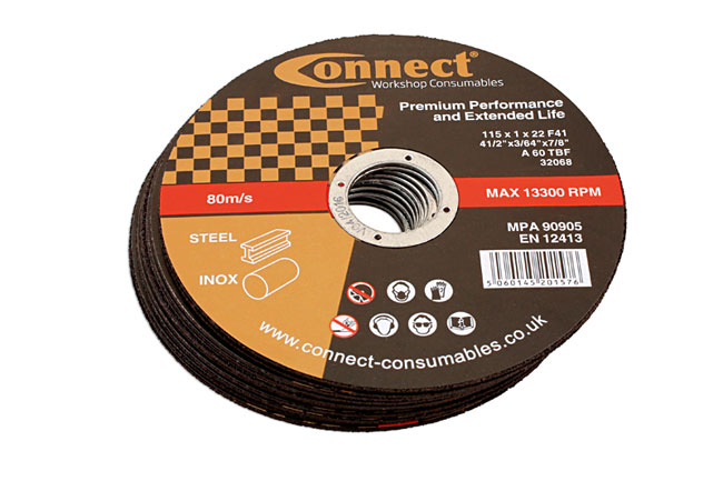 32251 Connect 115mm x 1.0mm Thin Discs - Pack 10