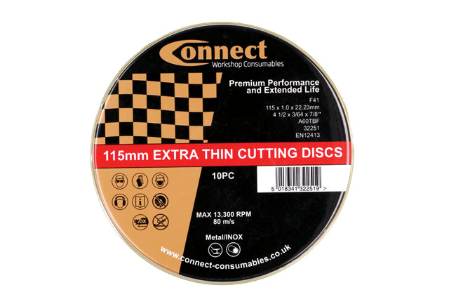 32252 Connect 115mm x 1.0mm Thin Discs - Pack 10 x 10